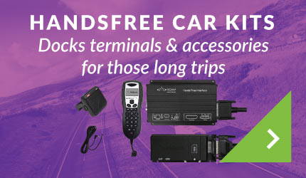 Handsfree car kits Docks terminals & accessories for those long trips