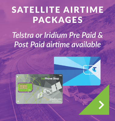Satellite Airtime Packages Telstra or Iridium Pre Paid & Post Paid airtime available